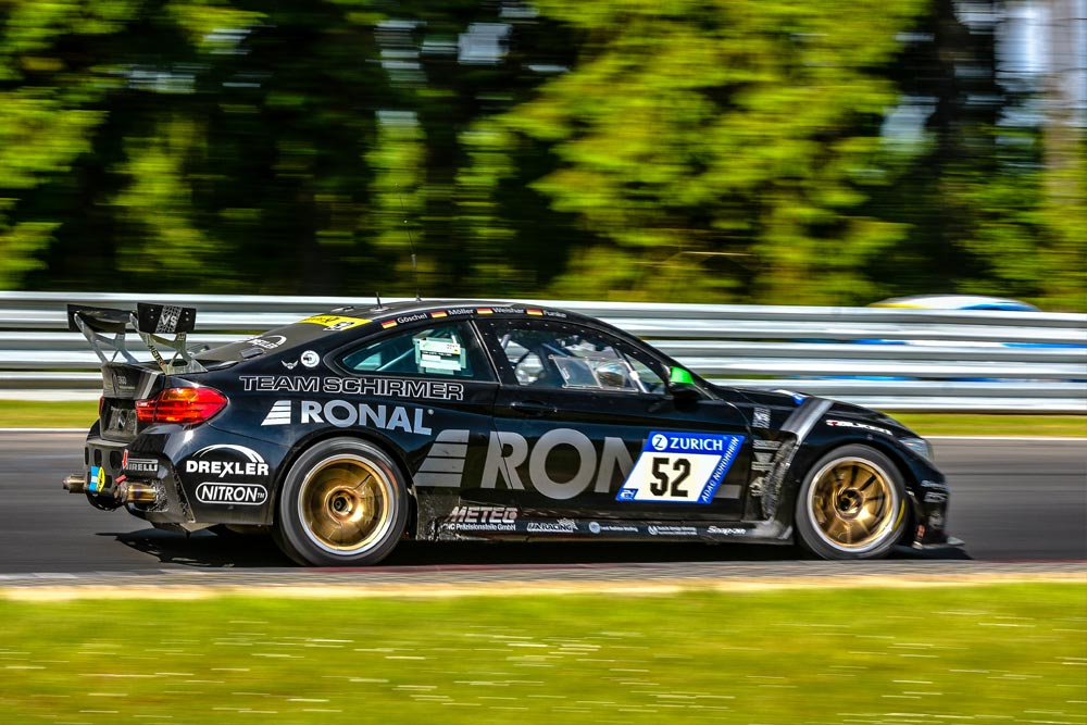 The BMW M4 Schirmer GT Race Car is a great car to be driven on Apex Nürburg taxi laps